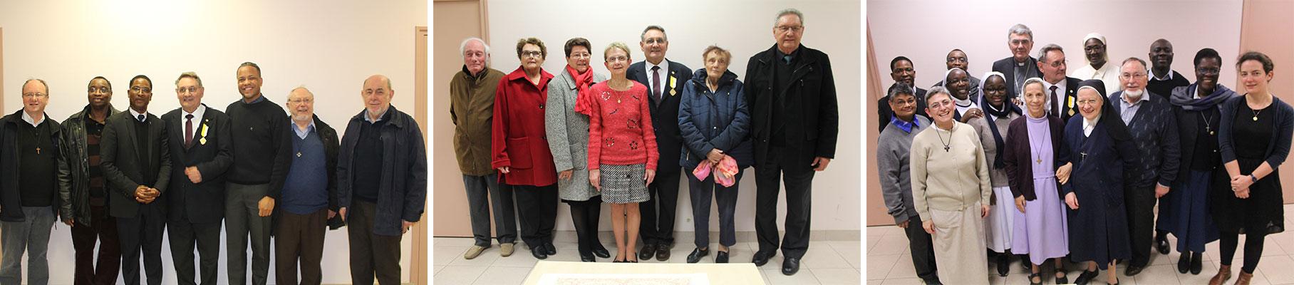 Père Michel MENARD s'est vu remettre la distinction « Pro Ecclesia et Pontifice »